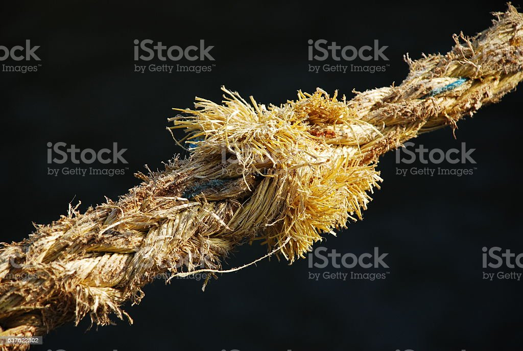 Weathered rope stock photo