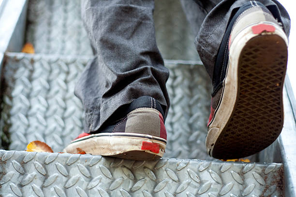 Weathered Shoes stock photo
