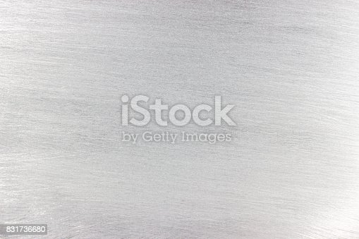 Gray texture of the brushed metal surface, monotonic iron background