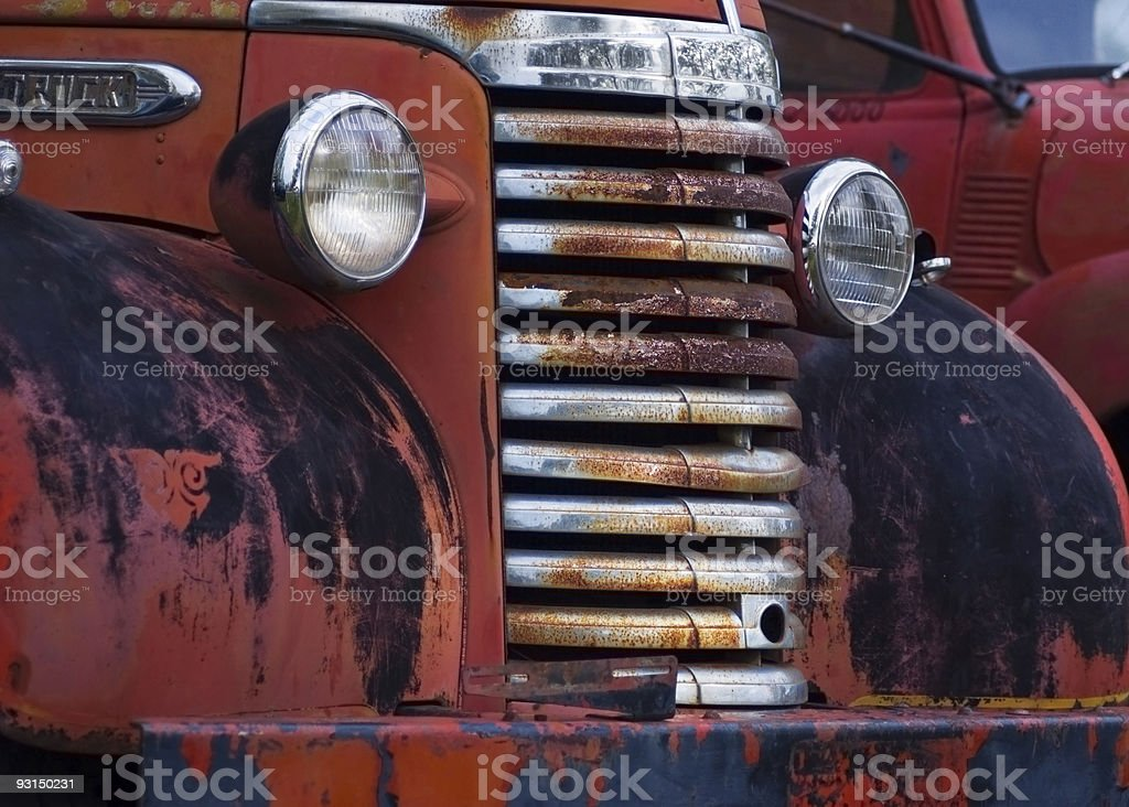 Weathered Vehicle Fronts royalty-free stock photo