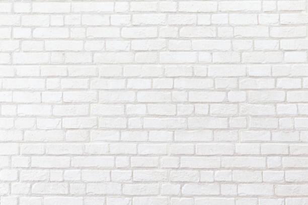 beyaz tuğla duvar doku arka plan yıpranmış. - tuğla stok fotoğraflar ve resimler