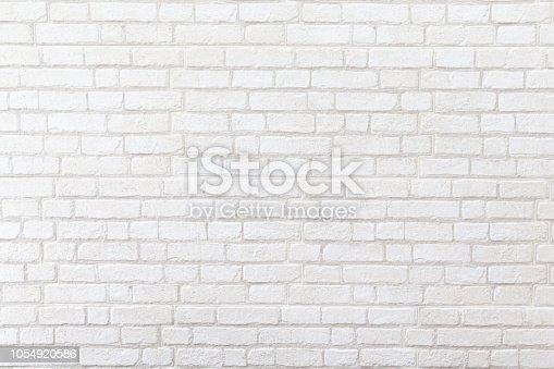 905087856istockphoto weathered white brick wall texture background. 1054920586
