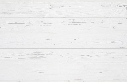 White painted wooden background texture.