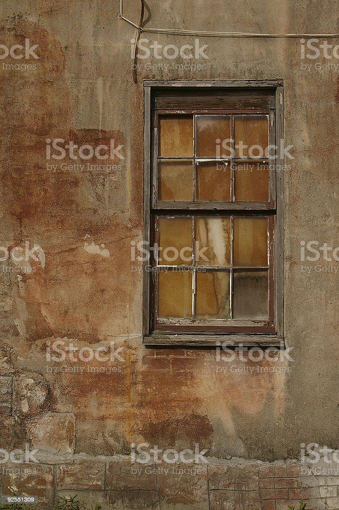 Weathered window royalty-free stock photo