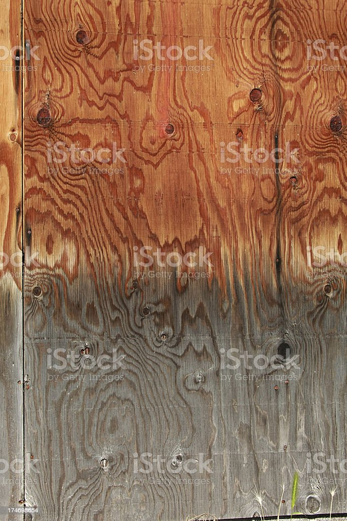 Weathered Wood Grained Panels royalty-free stock photo