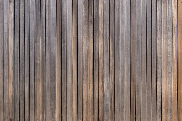 Weathered wood panel texture background stock photo