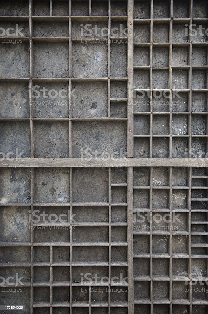 Weathered Wooden Box Background stock photo