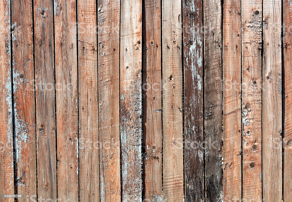Weathered wooden fence texture. stock photo
