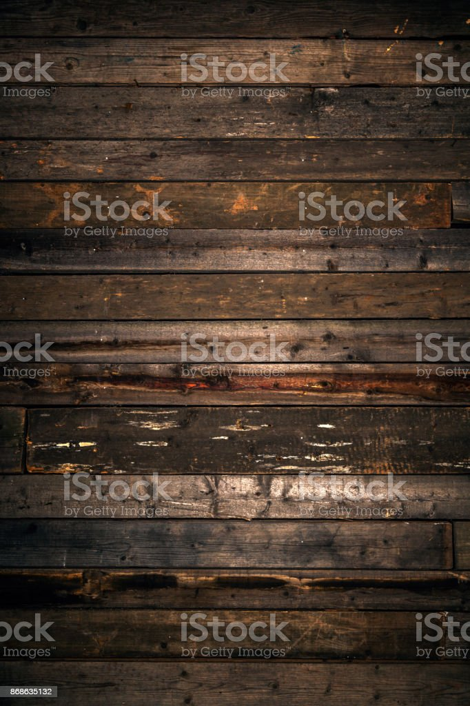 Weathered wooden floor texture background stock photo