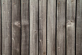 Weathered Wooden Lapped Fence
