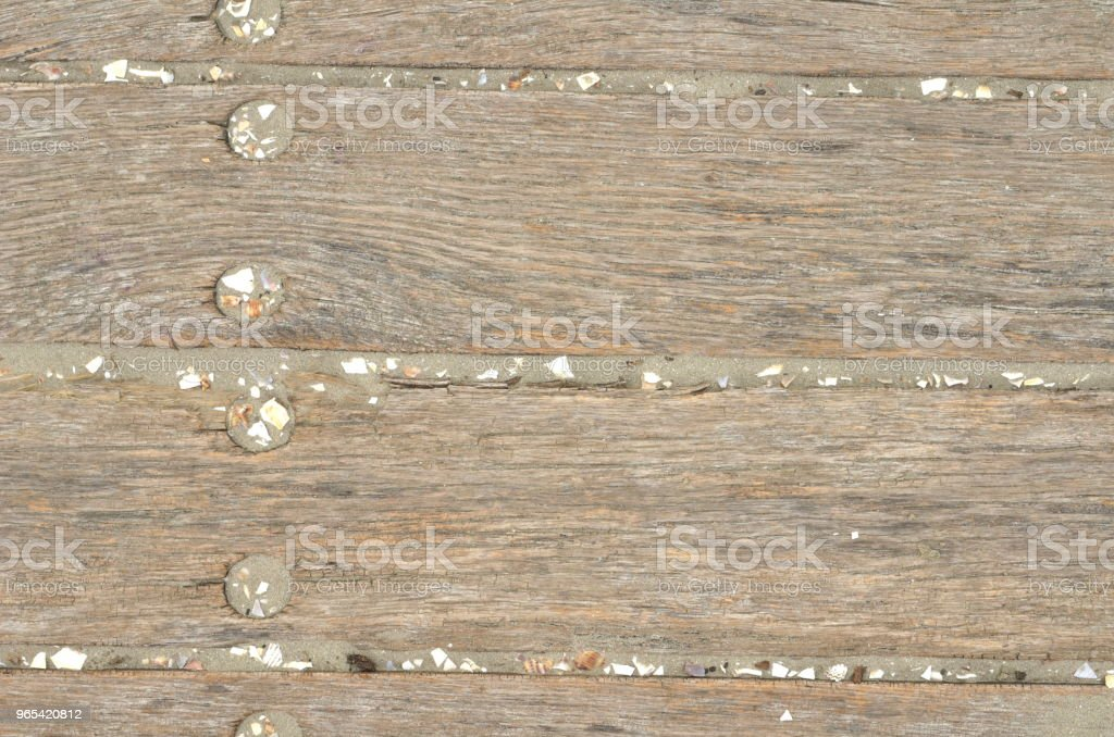 Weathered wooden planks, sand royalty-free stock photo