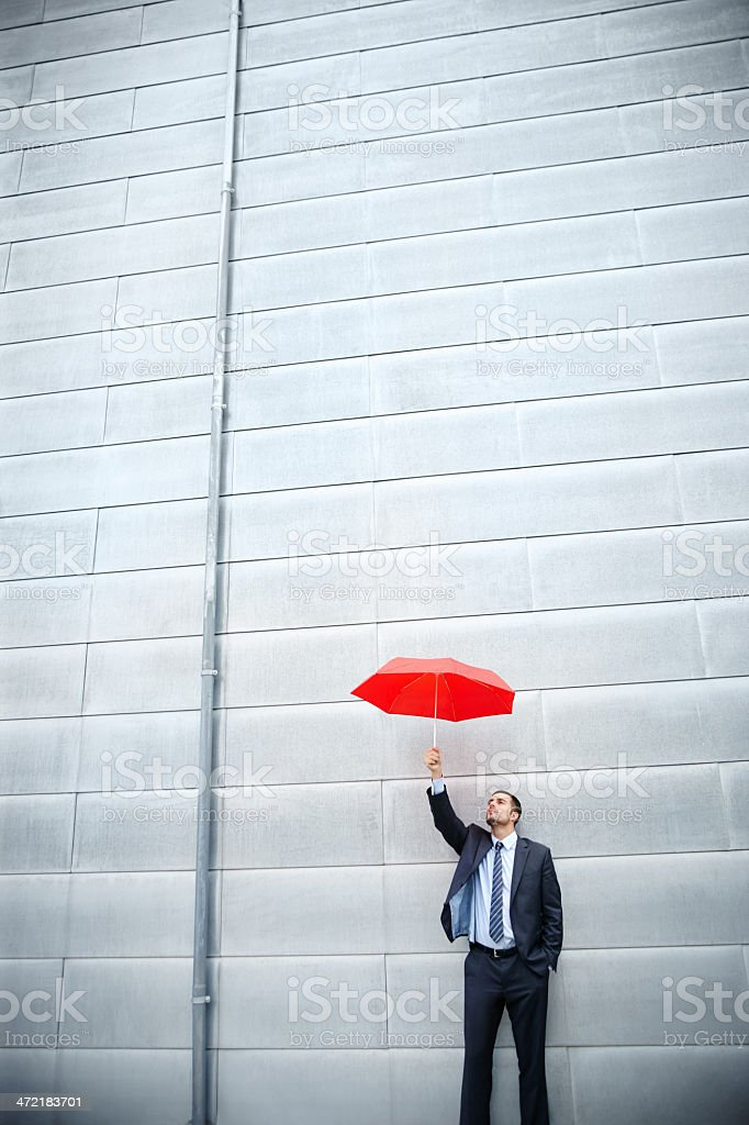 Weathering the financial storm royalty-free stock photo