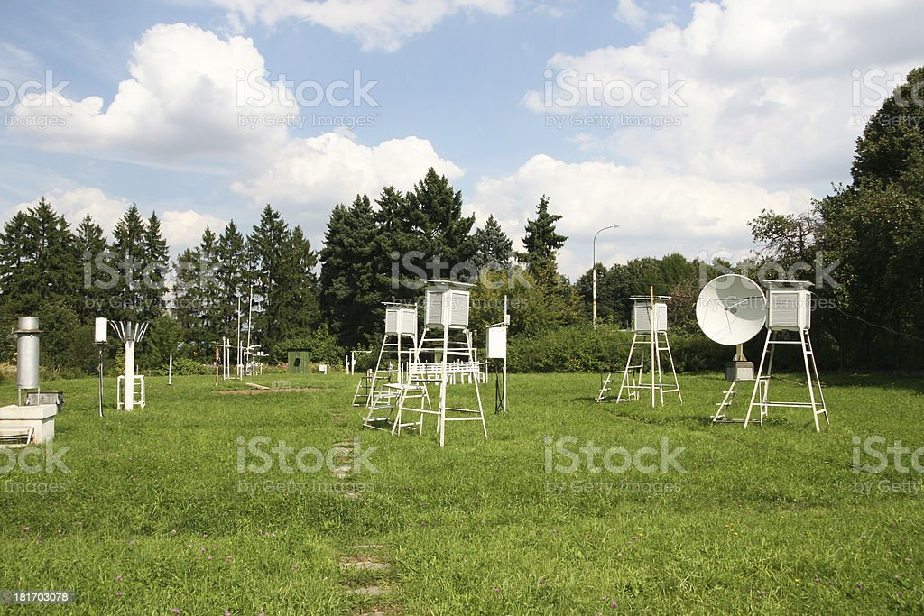 Weather-Station stock photo