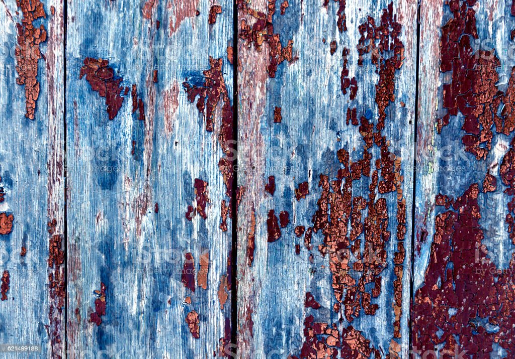 Weathred blue wooden planks. foto stock royalty-free