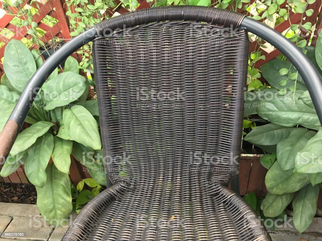 De Chaise Libre Droit Jardin Le Tisser Dans D La Photo Banque b76mIyfYgv