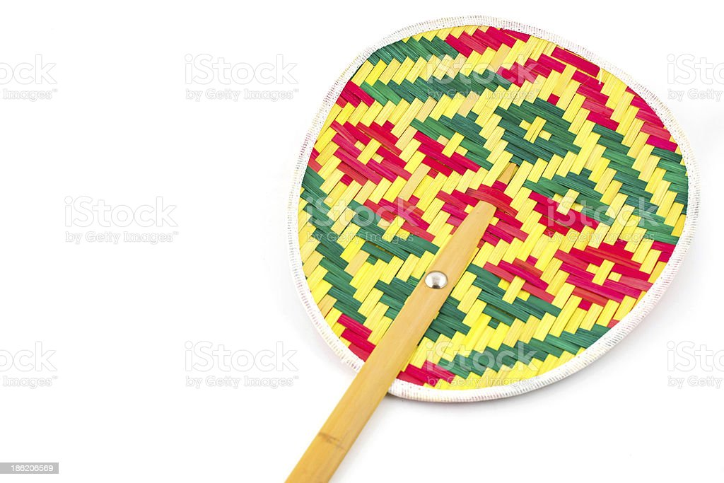 Weave colorful fan royalty-free stock photo