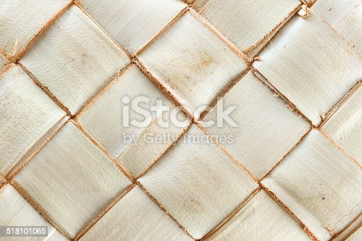 istock Weave pattern of palm leaves 518101065