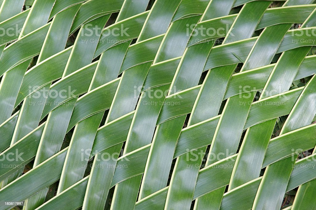 weaved palm leaf pattern royalty-free stock photo