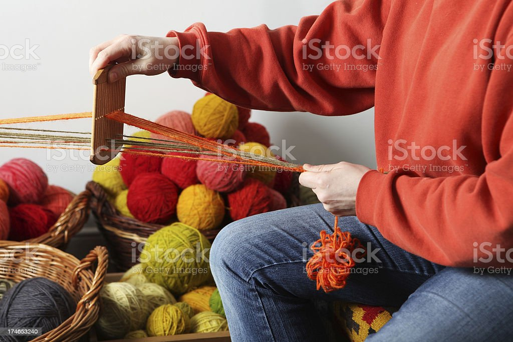 weaver at work royalty-free stock photo