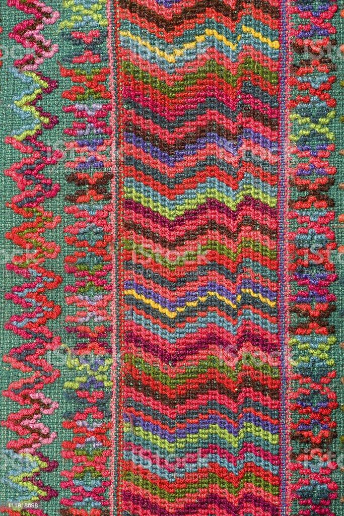 Weaving detail Totos Santos Guatemala stock photo