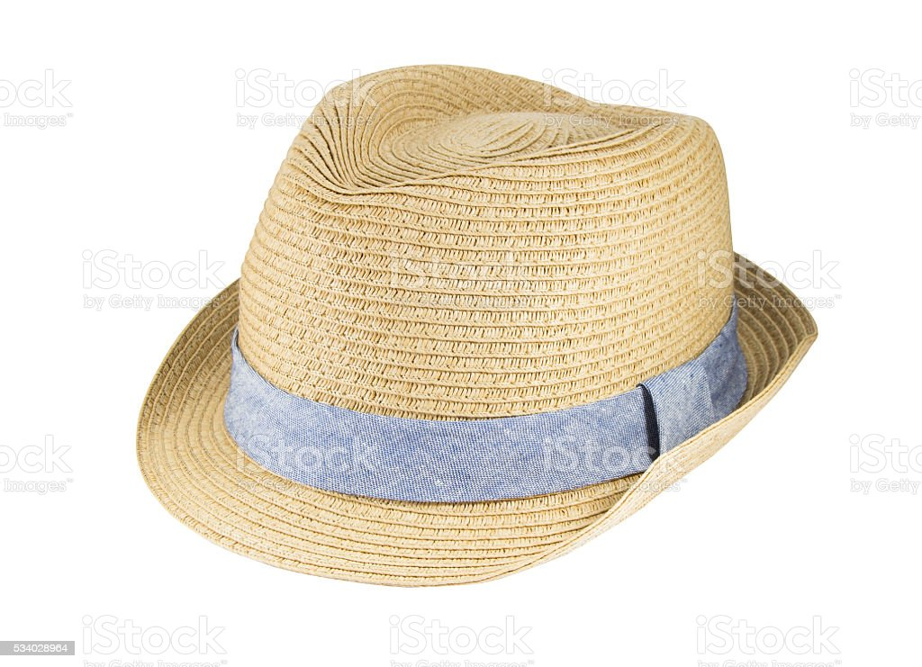 7c8b2f1226e Weaving hat with clipping path on white background. - Stock image .