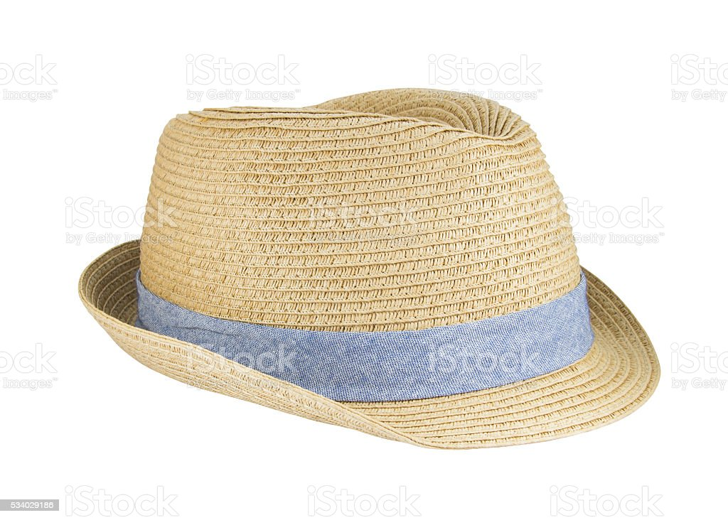 Weaving hat with clipping path on white background. - Stock image . a950c9516b4c