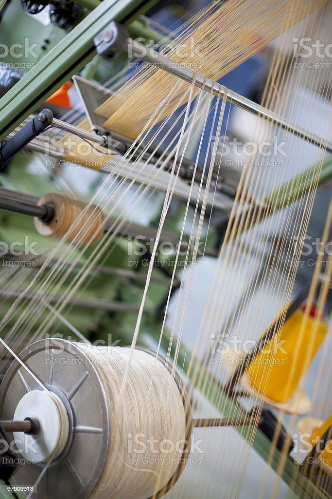 Weaving loom royaltyfri bildbanksbilder