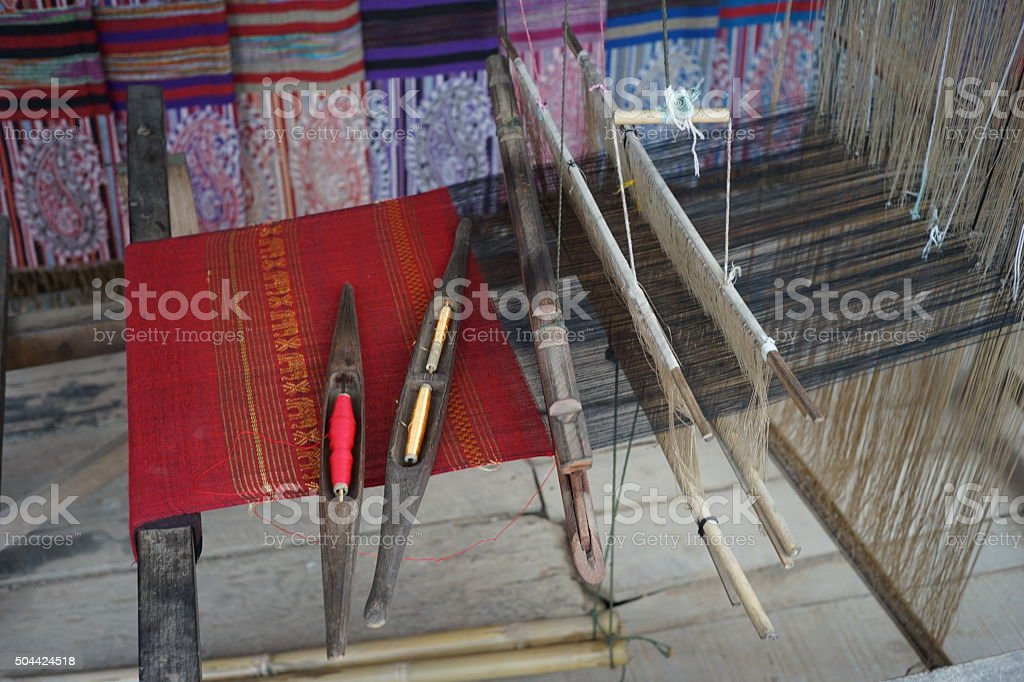Weaving Machine Handloom 6 Stock Photo - Download Image Now