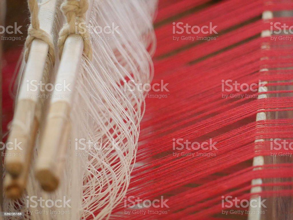 Tejer rosca a ser el Bayeta de tejido de algodón foto de stock libre de derechos