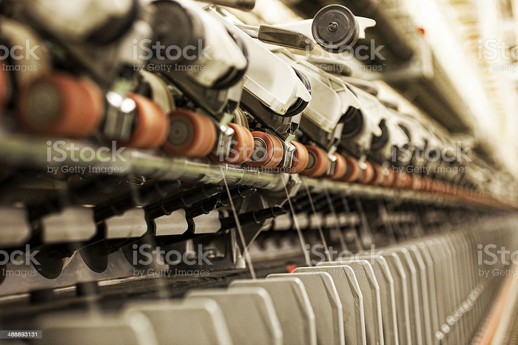 Weaving Work Station stock photo