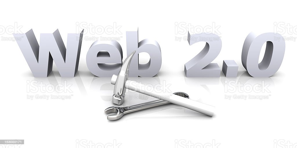 Web 2.0 - Under Construction stock photo