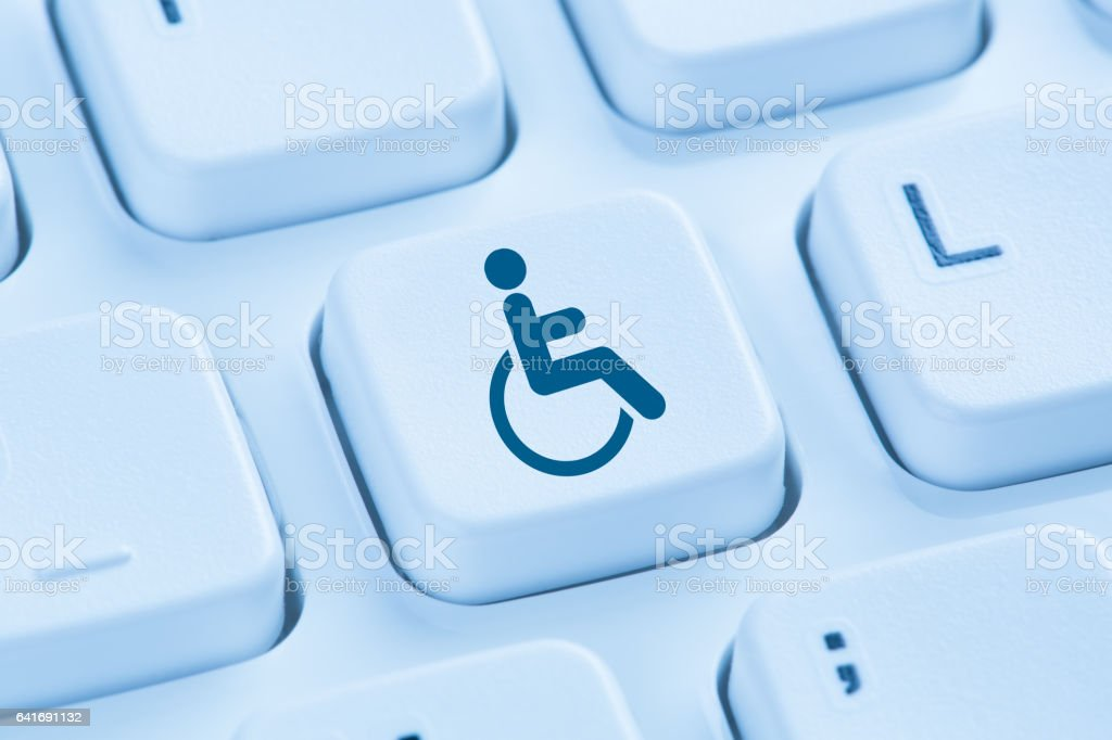 Web accessibility online internet website computer for people with disabilities stock photo