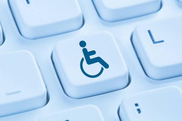 web accessibility online internet website computer for people with disabilities - accessibilità foto e immagini stock