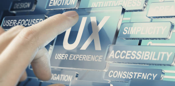 Web, App or Service User Experience, UX Design Concept. stock photo