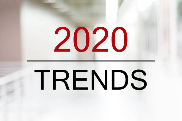 Webbanner, 2020 Trends zu Unschärfehintergrund, digitales Marketing, Business- und Technologiekonzept – Foto