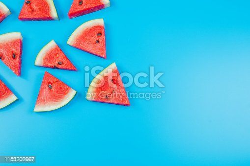 istock web banner and minimal flat lay creative design for group of summer fruits with fresh watermelon and pine apple on pastel color background 1153202667
