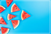 istock web banner and minimal flat lay creative design for group of summer fruits with fresh watermelon and pine apple on pastel color background 1153202691