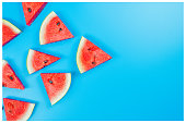 istock web banner and minimal flat lay creative design for group of summer fruits with fresh watermelon and pine apple on pastel color background 1157996646