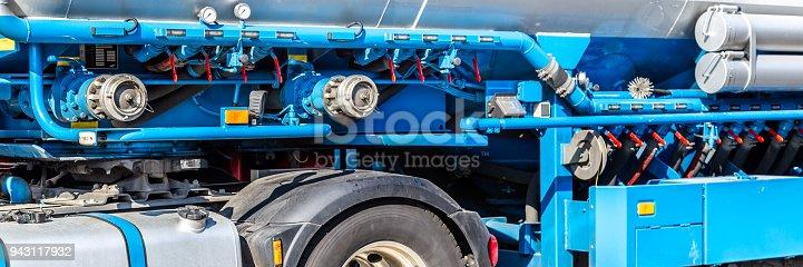 istock Web banner blue truck 943117932