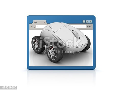 1129712029 istock photo Web Browser with Computer Mouse - 3D Rendering 874519380