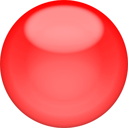 istock Web button 3d - red glossy sphere, isolated 1138568545