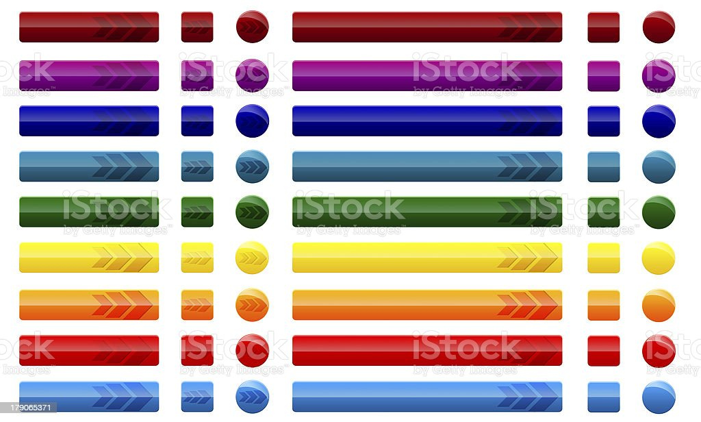 web buttons with arrows royalty-free stock photo