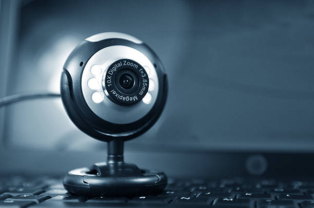 web cam with a 10x digital zoom and 8 5 megapixel  - webcam stock pictures, royalty-free photos & images
