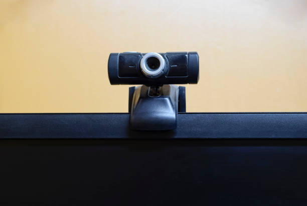 Web camera, attached to the monitor. Equipment for video Web camera, attached to the monitor. Equipment for video. webcam for your PC stock pictures, royalty-free photos & images