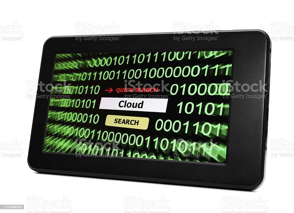 Web cloud royalty-free stock photo