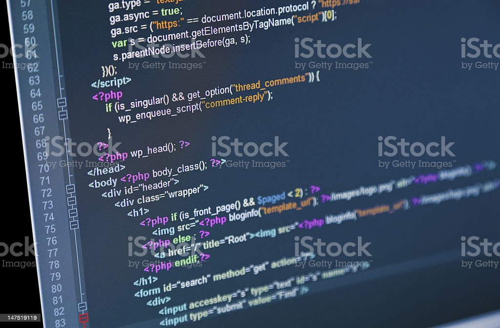 Web Code stock photo