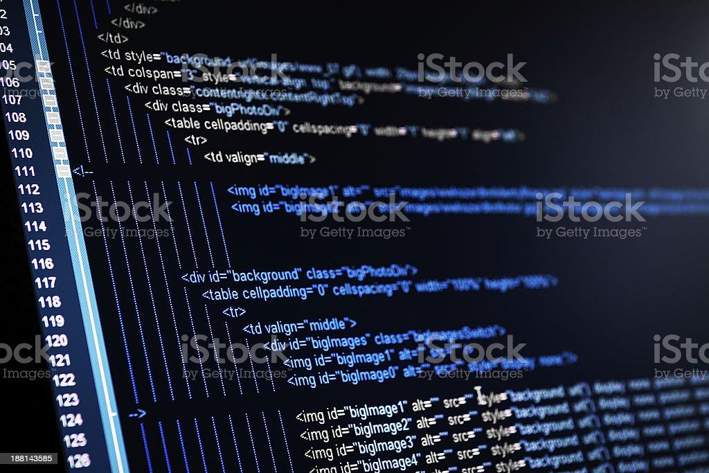 HTML web code royalty-free stock photo