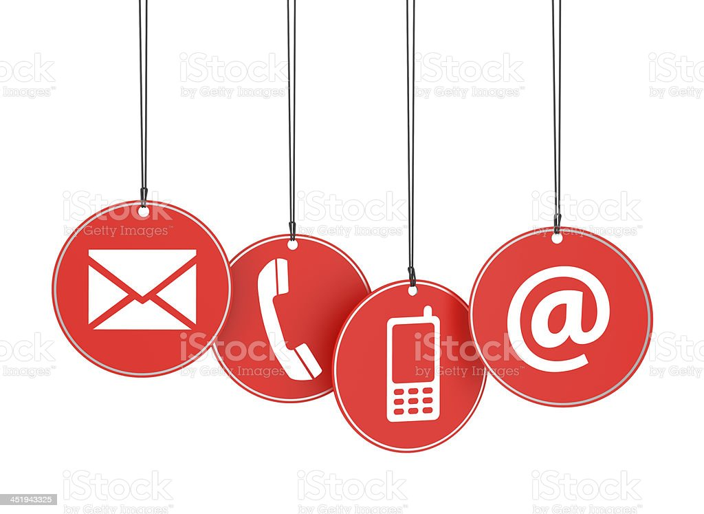Contact Us Red >> Web Contact Us Icons On Red Tags Stock Photo & More