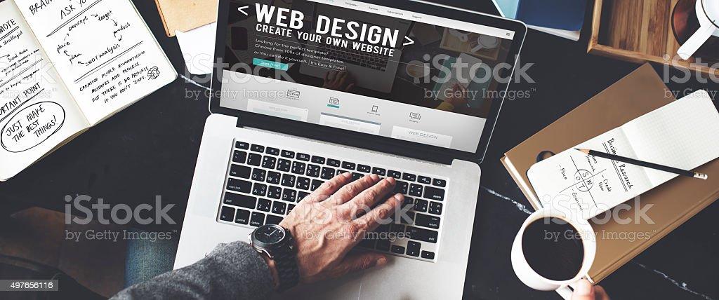 Web Desegn Ideas Creativity Internet Online Multimedia Concept stock photo