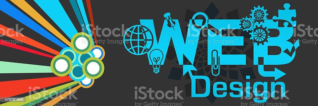 Web Design Colorful Dark stock photo